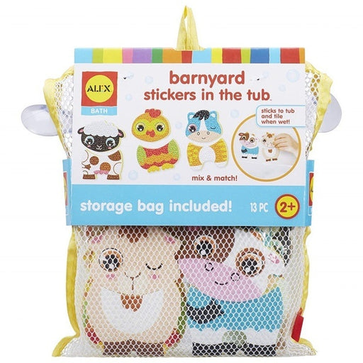 ALEX MIX & MATCH BARNYARD STICKERS FOR THE TUB