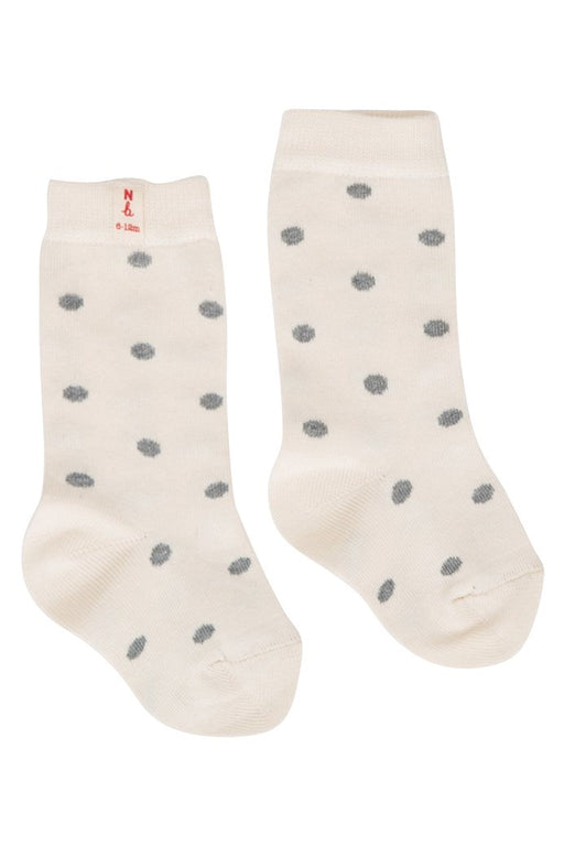 NATURE BABY ORGANIC COTTON SOCKS GREY POLKA DOTS