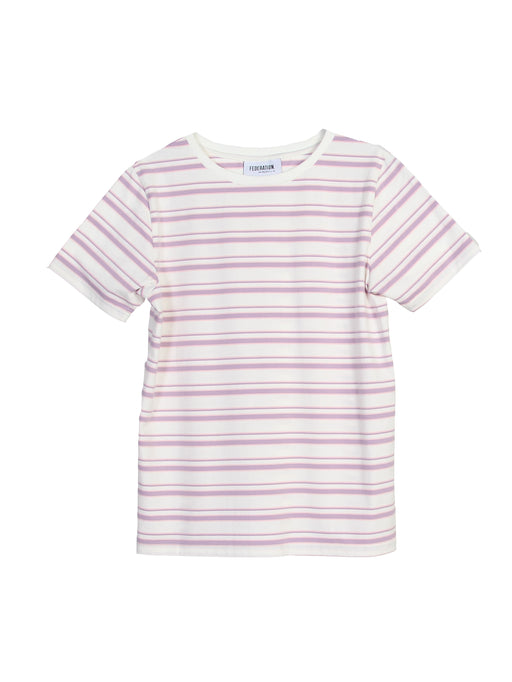 MINI FED NICE TEE - LILAC STRIPE