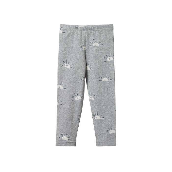 NATURE BABY KIDS LEGGINGS SUNRISE GREY MARLE PRINT