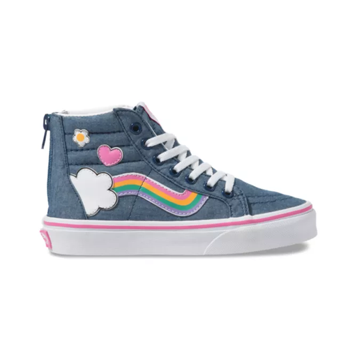 VANS KIDS SK8 HI ZIP RAINBOW SIDE STRIPE