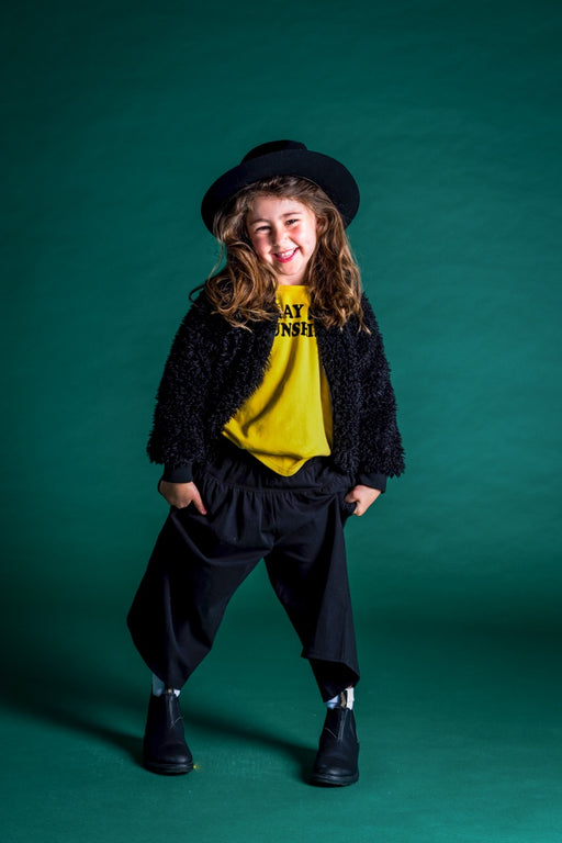 ROCK YOUR KID BLACK TEDDY JACKET