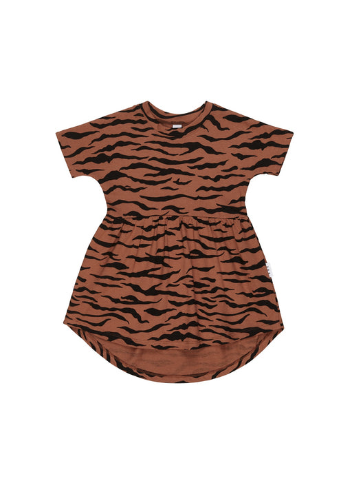 HUXBABY TIGER SWIRL DRESS