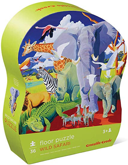CROCODILE CREEK WILD SAFARI PUZZLE 72PC