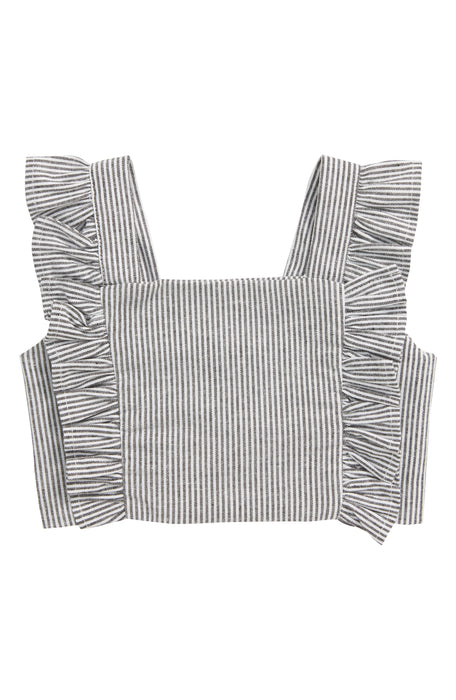 TINY TRIBE STRIPE FRILL CROP TOP