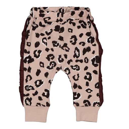 KENZIE FRILL LEGGINGS BLUSH CHEETAH