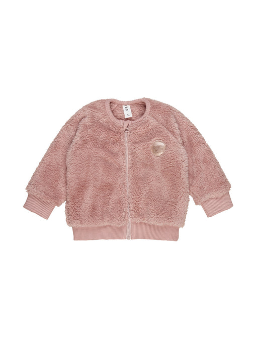 HUXBABY FURRY JACKET BERRY