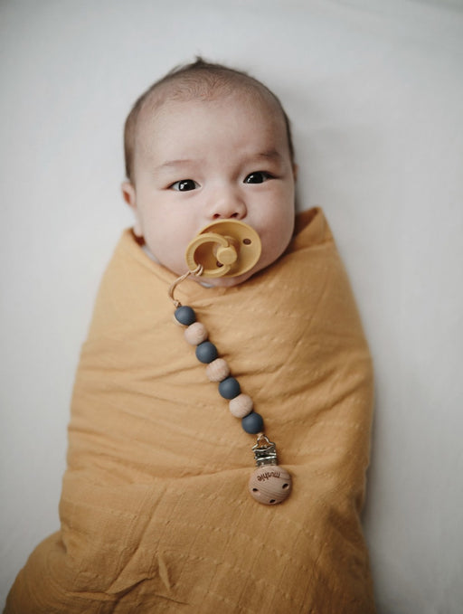 MUSHIE ORGANIC MUSLIN SWADDLE - FALL YELLOW