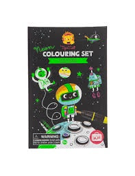 TIGER TRIBE- OUTER SPACE NEON COLOURING SET