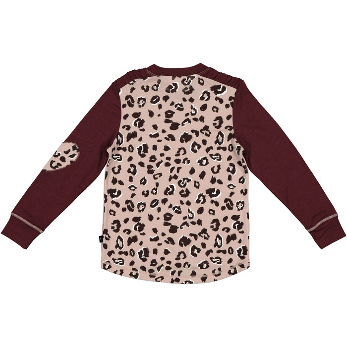 LFOH GRACIE LS TOP BLUSH CHEETAH