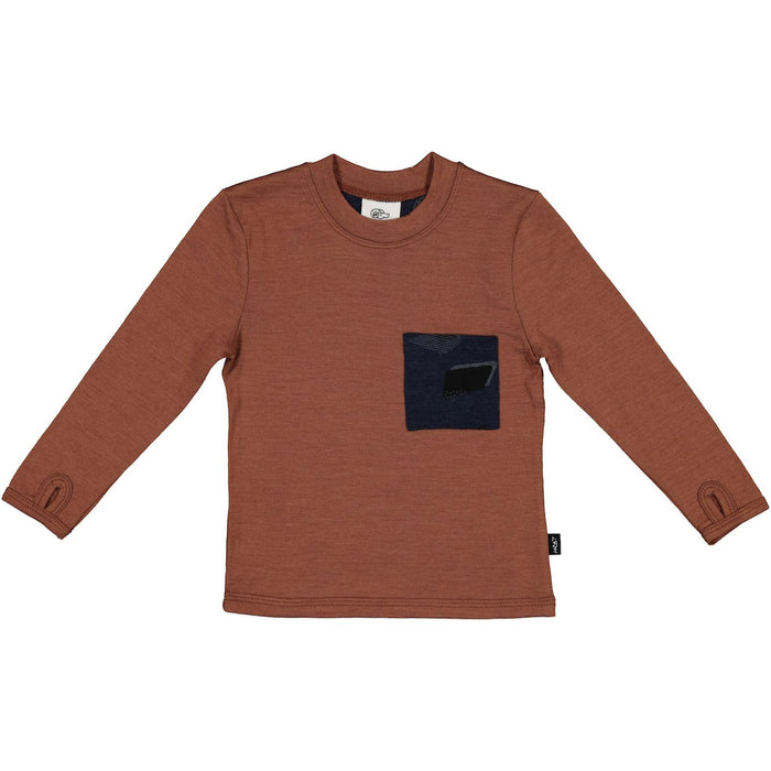 LINCOLN POCKET TEE RUSSET
