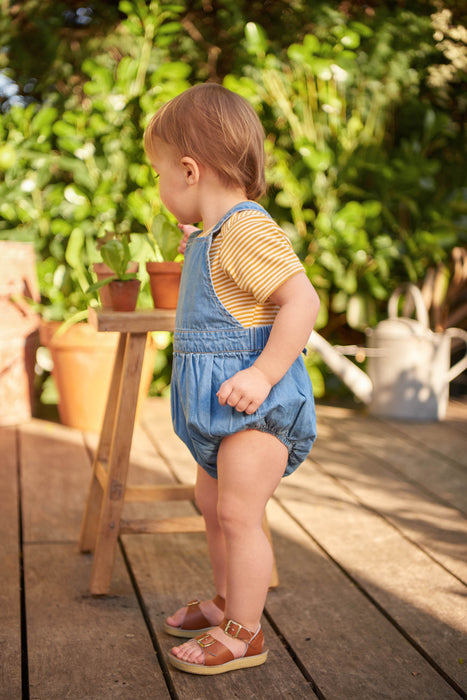 NATURE BABY CHAMBRAY GEORGIE ROMPER SKY