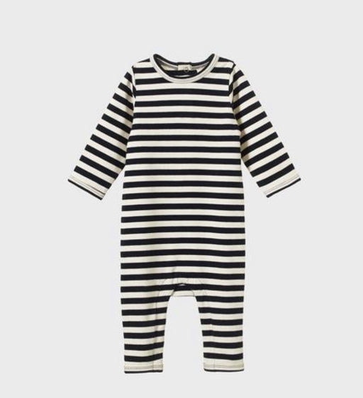NATURE BABY LS QUINCEY ROMPER NAVY SEA STRIPE