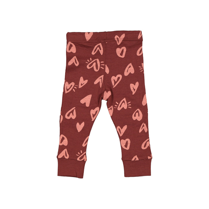 LFOH SLASHER LEGGINGS CURRANT HEARTBURST