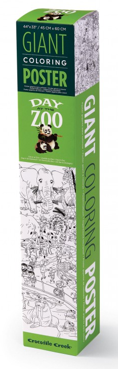 CROCODILE CREEK GIANT COLOURING POSTER - ZOO
