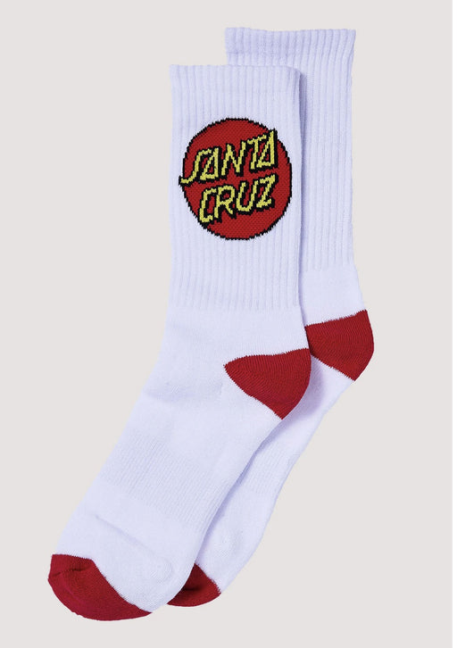 SANTA CRUZ YOUTH CRUZ SOCK WHITE- 4 PAIRS