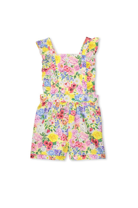 MILKY SUMMER FLORAL PLAYSUIT YELLOW