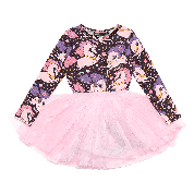 ROCK YOUR KID LONG SLEEVE COSMIC UNICORN CIRCUS DRESS MULTI