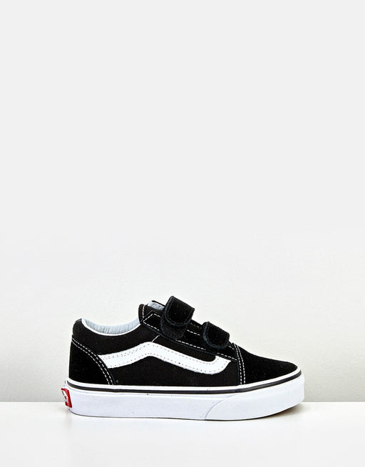 VANS KIDS OLD SKOOL VELCRO BLACK/TRUE WHITE