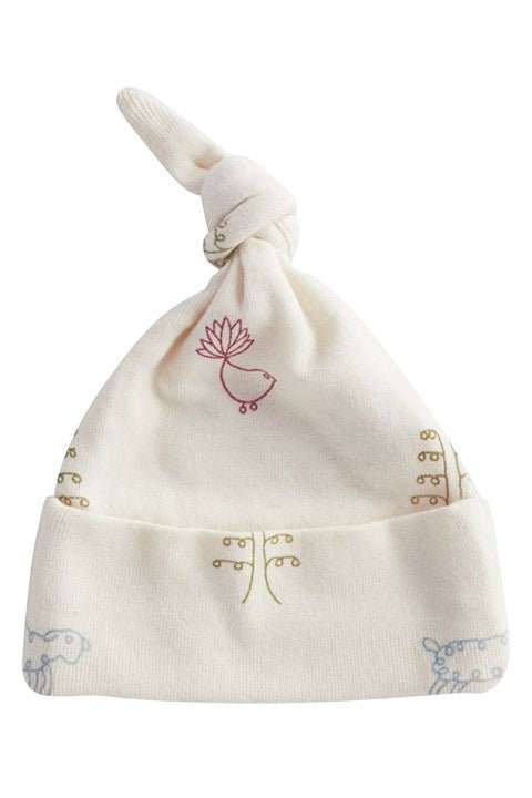 NATURE BABY KNOTTED BEANIE NATURE BABY PRINT