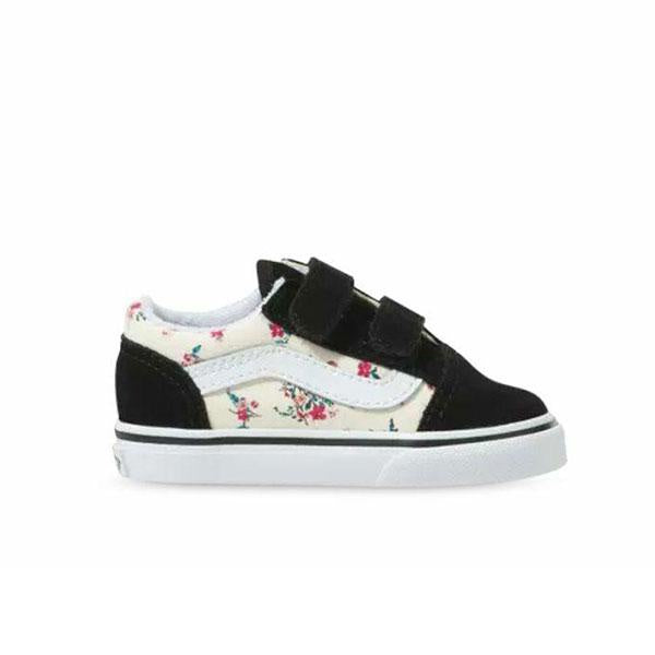 VANS TODDLER OLD SKOOL VELCRO- DITSY FLORAL