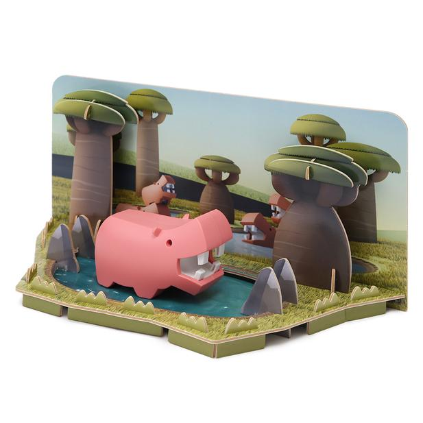 HALFTOYS HALF ANIMAL WORLD HIPPO