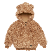 ROCK YOUR KID SHERPA BEAR HODDIE CARAMEL