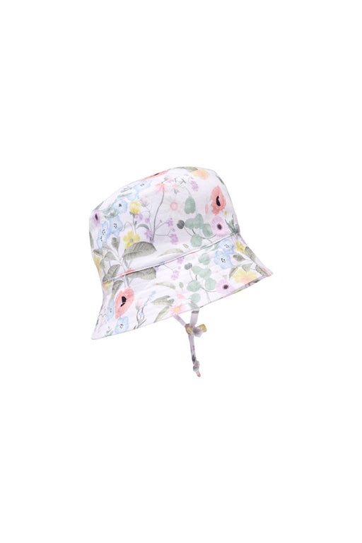 MILKY SPRING FLORAL SUNHAT PASTEL PINK