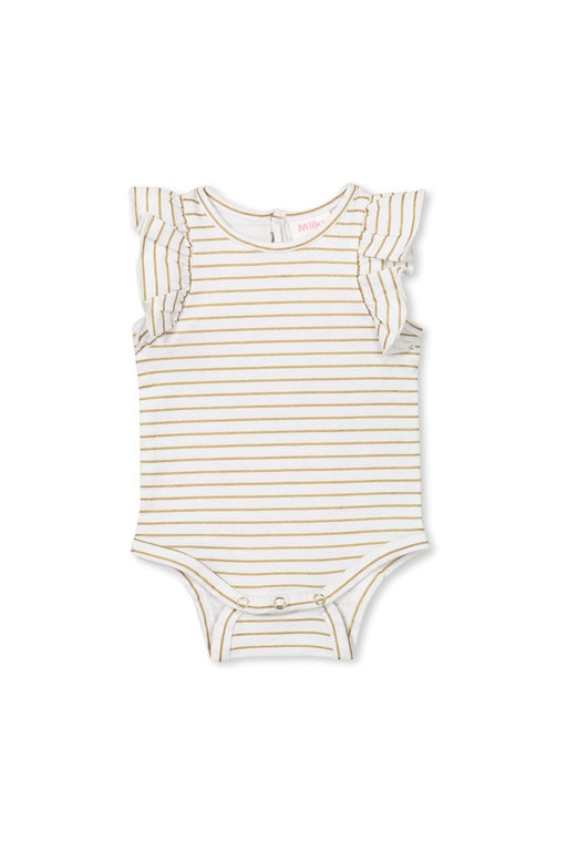 MILKY BABY GOLD STRIPE BUBBYSUIT