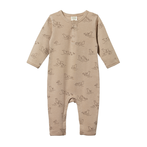 NATURE BABY HENLEY PYJAMA SUIT POND SLEEPWEAR PRINT