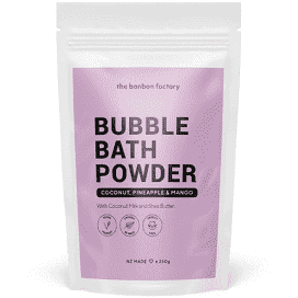 BON BON FACTORY BUBBLE BATH POWDER - COCONUT, PINEAPPLE & MANGO