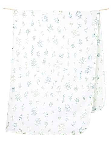 TOSHI DESIGN MUSLIN WRAP - LEAVES