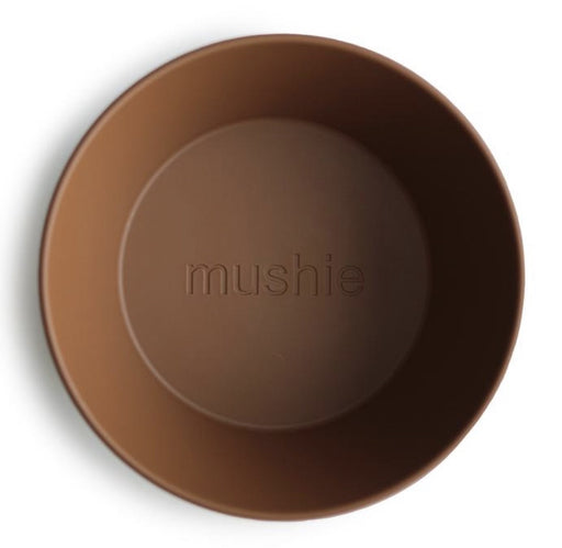 MUSHIE DINNERWARE ROUND BOWL SET OF 2 - CARAMEL
