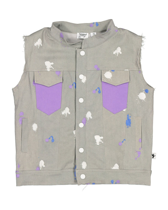 KISSED BY RADICOOL SPLATTER VEST