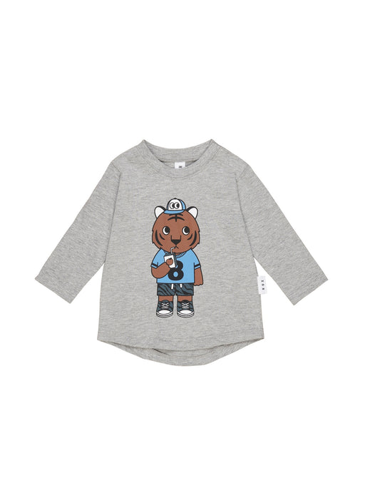 HUXBABY TIGER TOP GREY MARLE
