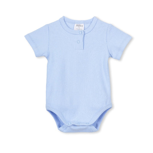 MILKY BASIC BUBBYSUIT - ICE BLUE MARLE