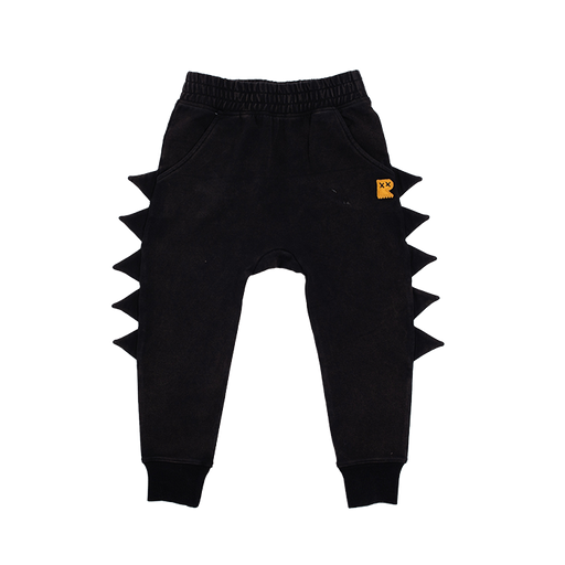 ROCK YOUR KID DINO TRACK PANTS BLACK WASH (PRE ORDER)
