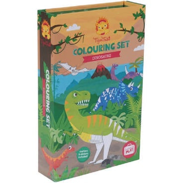 TIGER TRIBE COLOURING SET - DINOSAURS