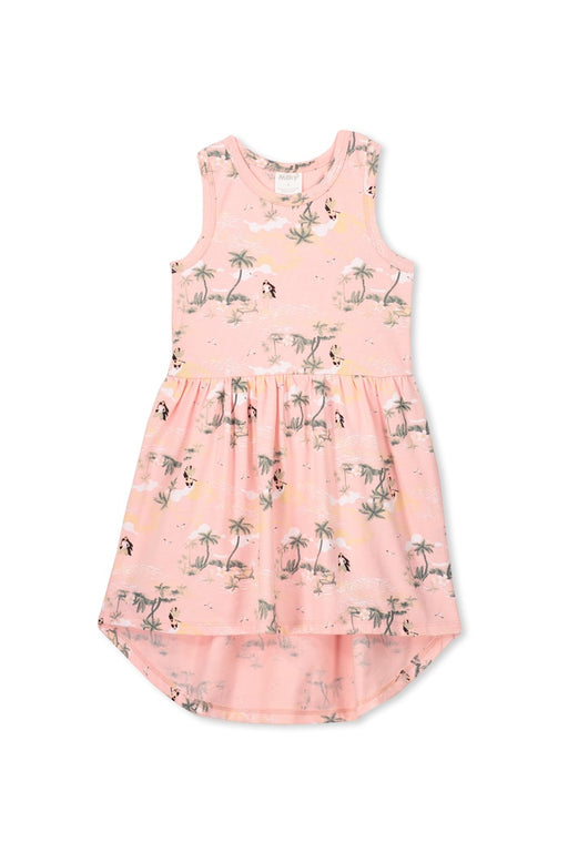 MILKY HULA GIRL DRESS IMPATIENT PINK