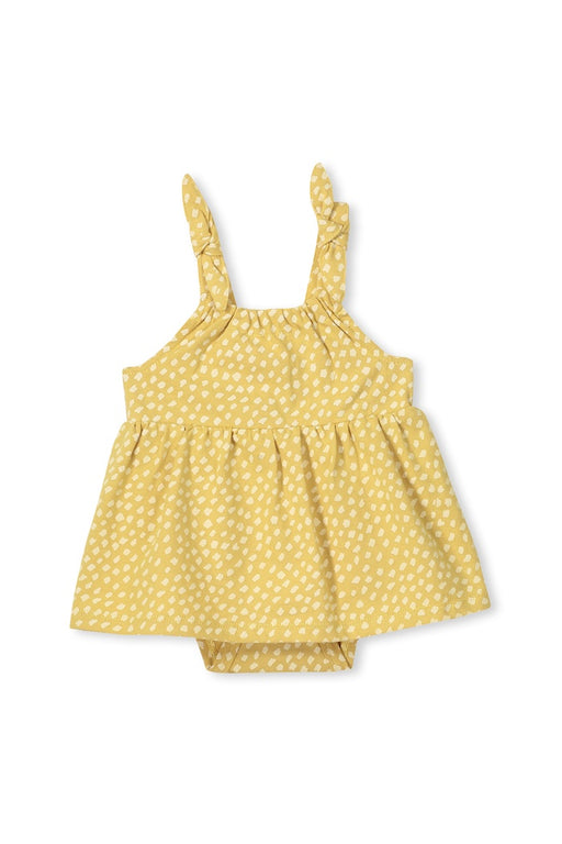 MILKY BABY SPOT DRESS CHARTRUSE