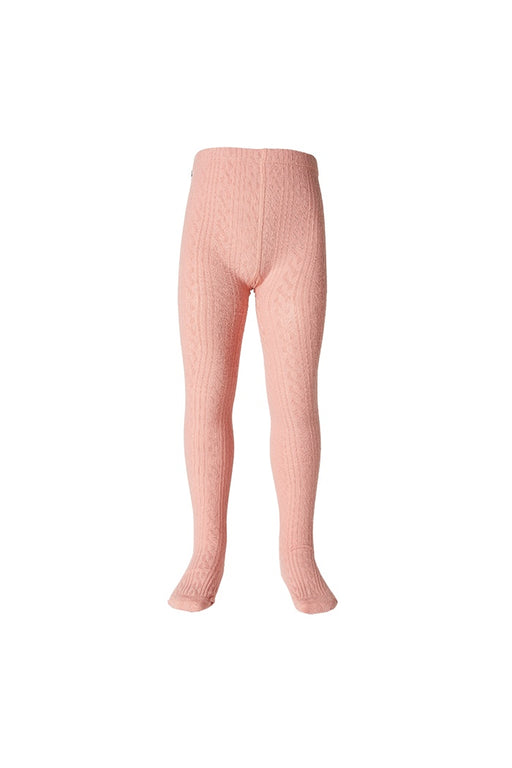 MILKY JAQUARD TIGHTS PEONY PINK