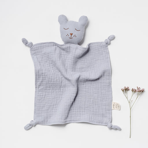 OVER THE DANDELIONS ORGANIC MUSLIN SLEEPY BEAR LOVEY - FROST