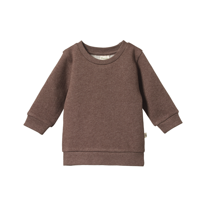 NATURE BABY EMERSON SWEATER - TRUFFLE MARL