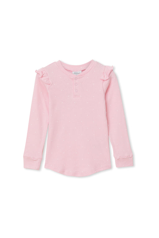MILKY RIB SPOT TEE - CANDY PINK
