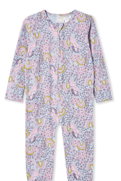 MILKY UNICORN SLEEP ONESIE ICE BLUE
