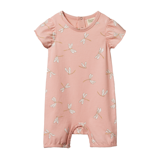 NATURE BABY TILLY SUIT DRAGONFLY LILY PRINT