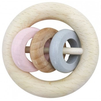 HESS-SPIELZEUGH RINGS RATTLE - PINK