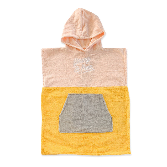 HELLO STRANGER PONCHO TOWEL PINK YELLOW