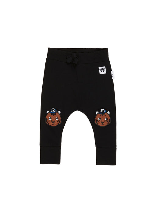 HUXBABY TIGER KNEE DROP CROTCH PANT BLACK