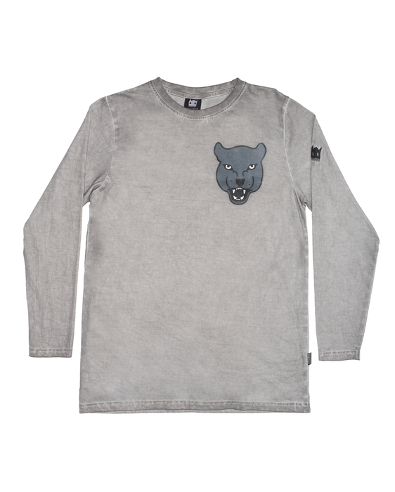 BAND OF BOYS BANDITS LS TEE GREY PANTHER STRAIGHT HEM CPD GREY